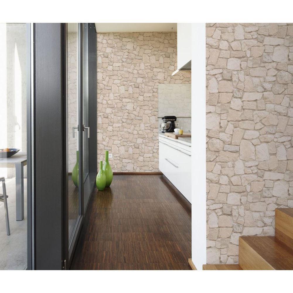 neuf effet brique faux r aliste mur de pierre motif photo papier peint mural ebay. Black Bedroom Furniture Sets. Home Design Ideas