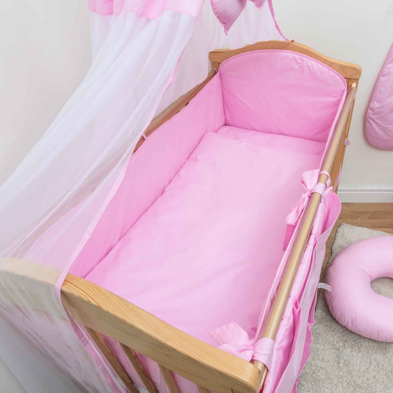 3 teile baby bettw sche set gro rundum nestchen fassungen gitterbett kinderbett ebay. Black Bedroom Furniture Sets. Home Design Ideas