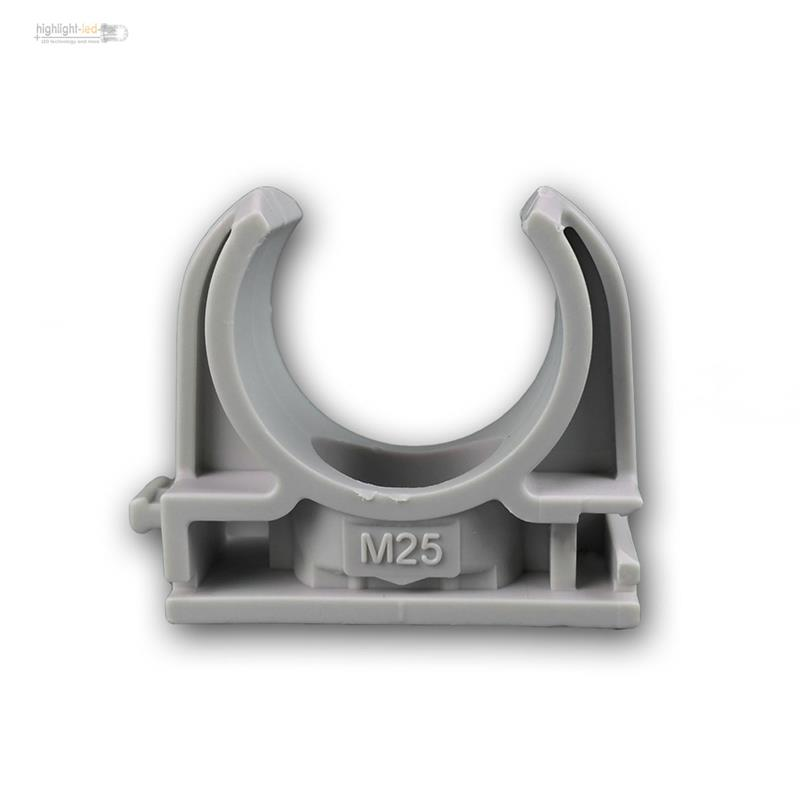 100er-Pack-Rohr-Klemmschellen-Rohrschellen-Schellen-Schnappschellen-M16-20-25