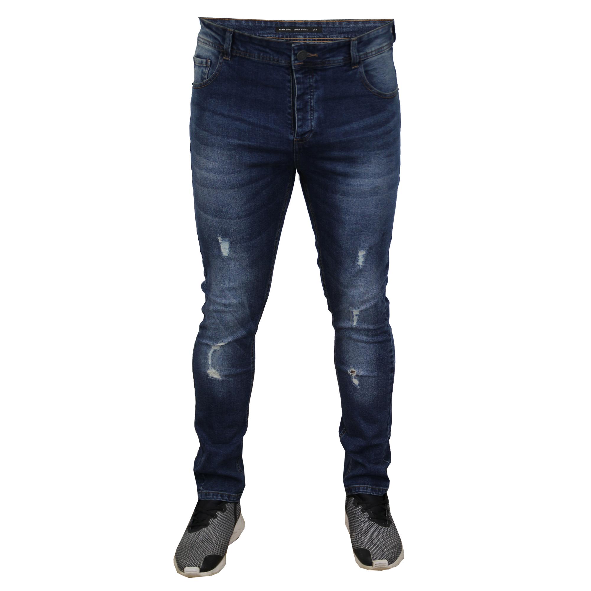 herren zerrissen jeans brave soul ortiz enge passform. Black Bedroom Furniture Sets. Home Design Ideas