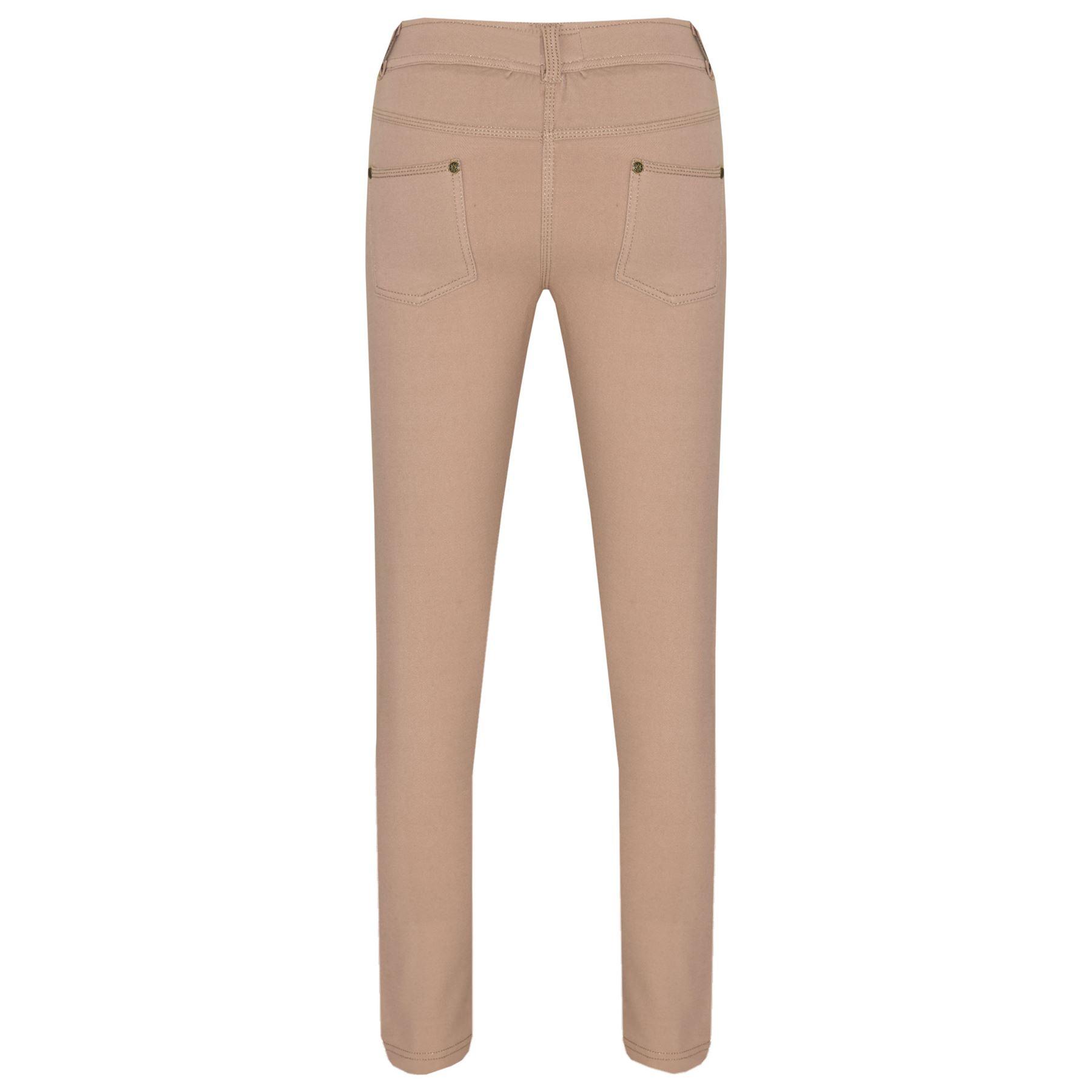 3c98f054b226c Girls Skinny Jeans Kids Stone Stretchy Denim Jeggings Fit Pants ...