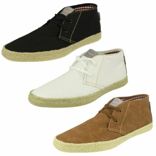 /'Mens Fish n Chips by Base London/' Canvas Ankle Boots Lilo