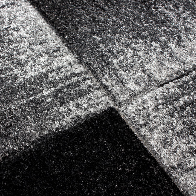 Modern Zeitgenössisch Schwarz Leder Braun Lila Grau Wirbel