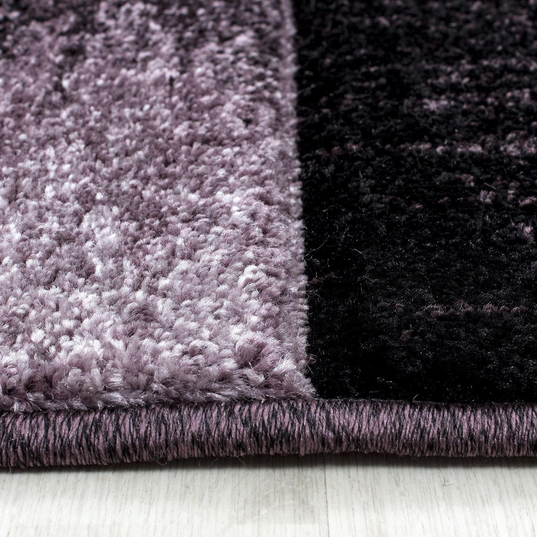 Dark Purple Rugs: Modern Contemporary Black Grey Brown Purple Grey Swirls