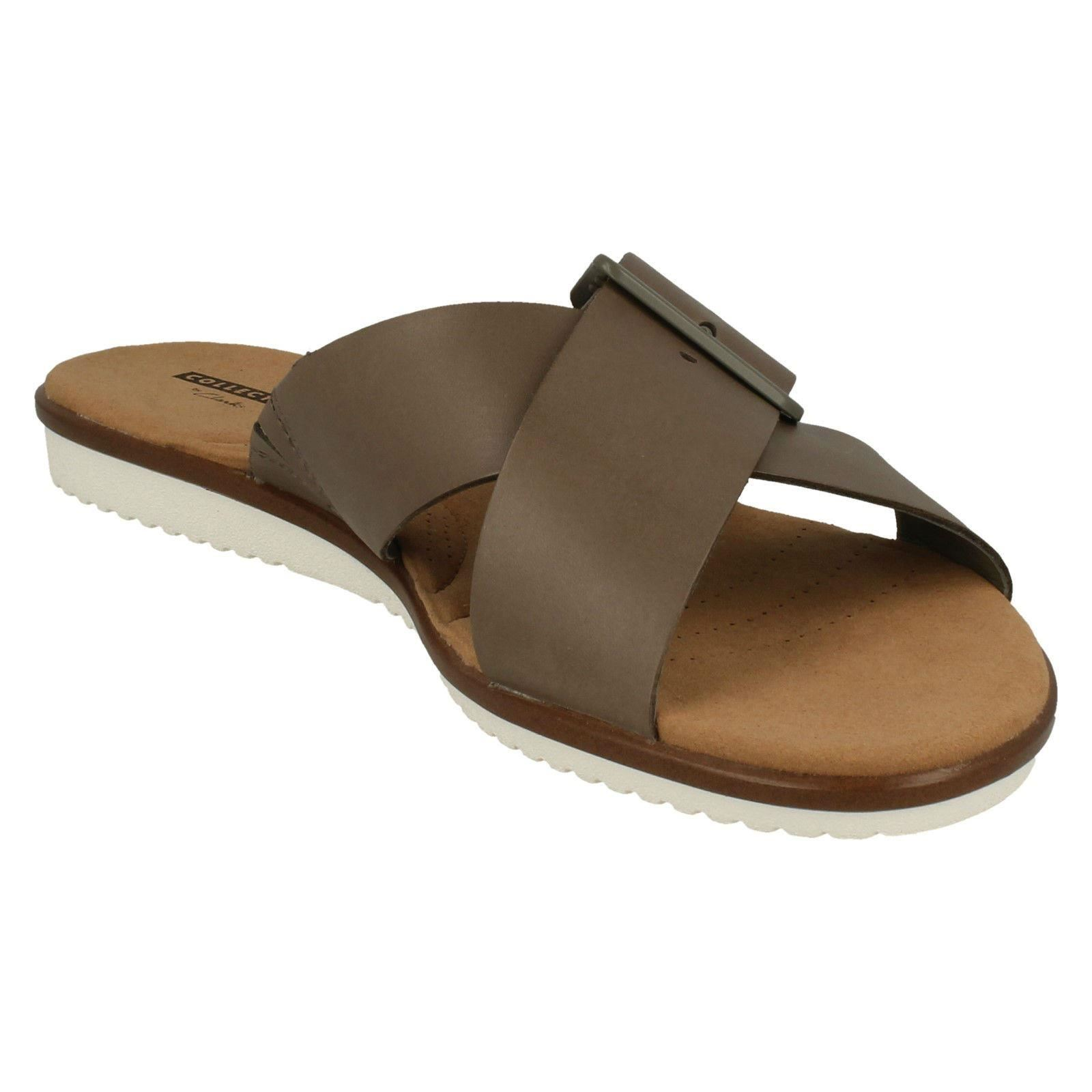 Ladies Clarks Slip Slip Slip On Sandals - Kele Heather 215a9f