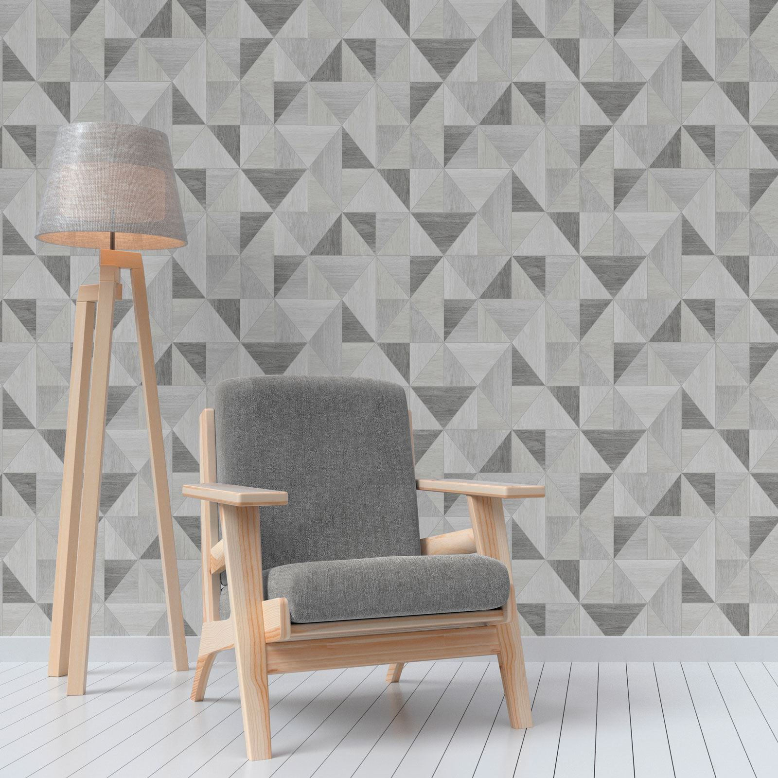 GEOMETRIC METALLIC WALLPAPER FINE DECOR APEX Amp WOW