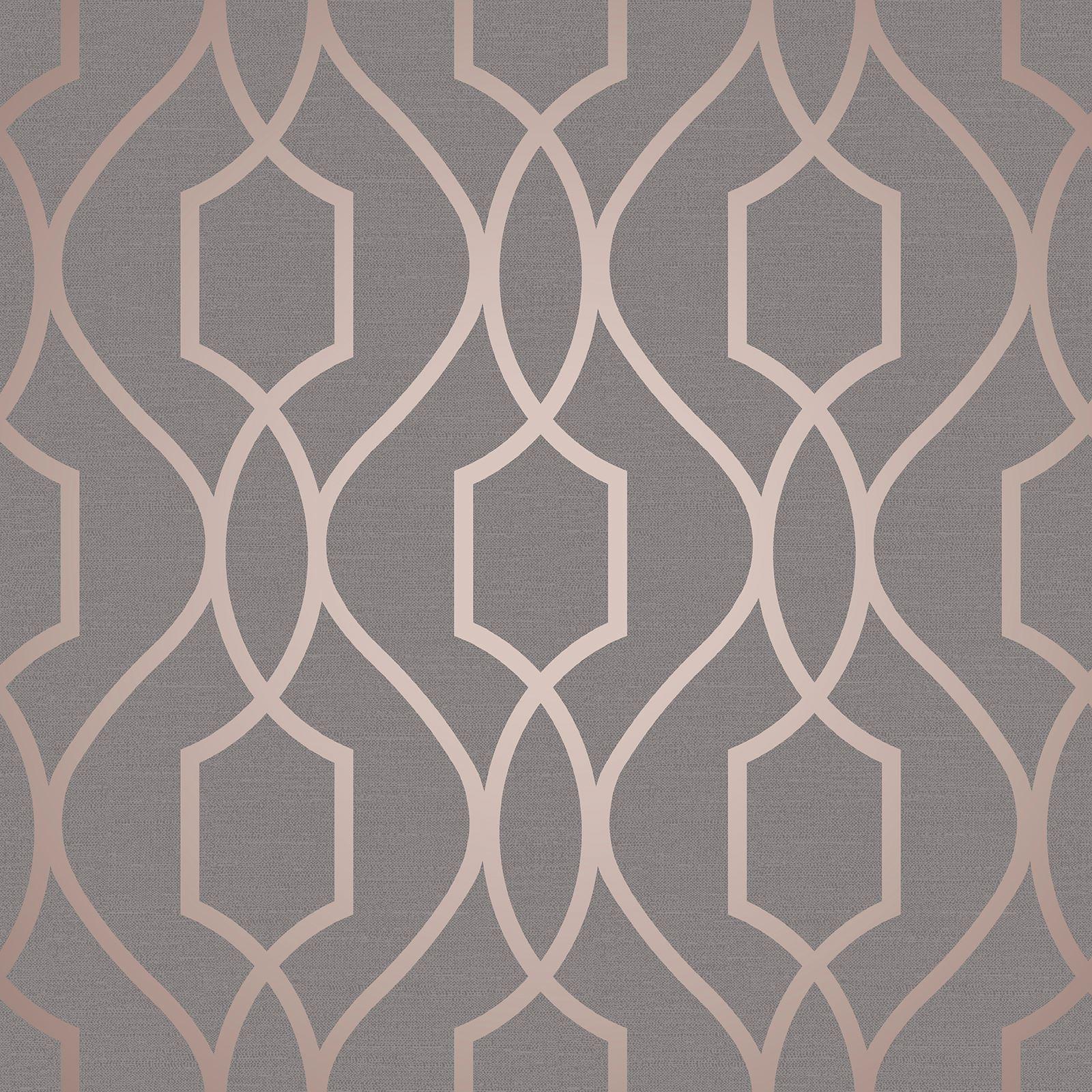 Geometrique Metalique Decoration Papier Peint Sommet Metro Dore