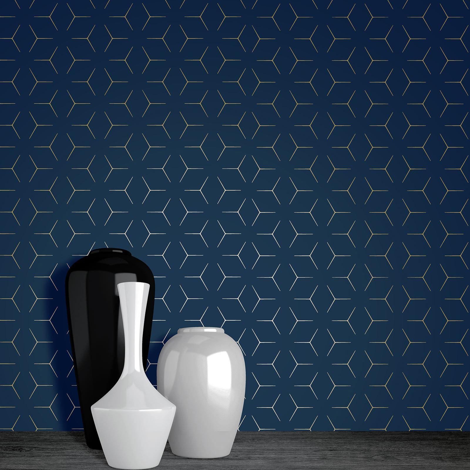 geometric metallic wallpaper fine decor apex amp wow metro