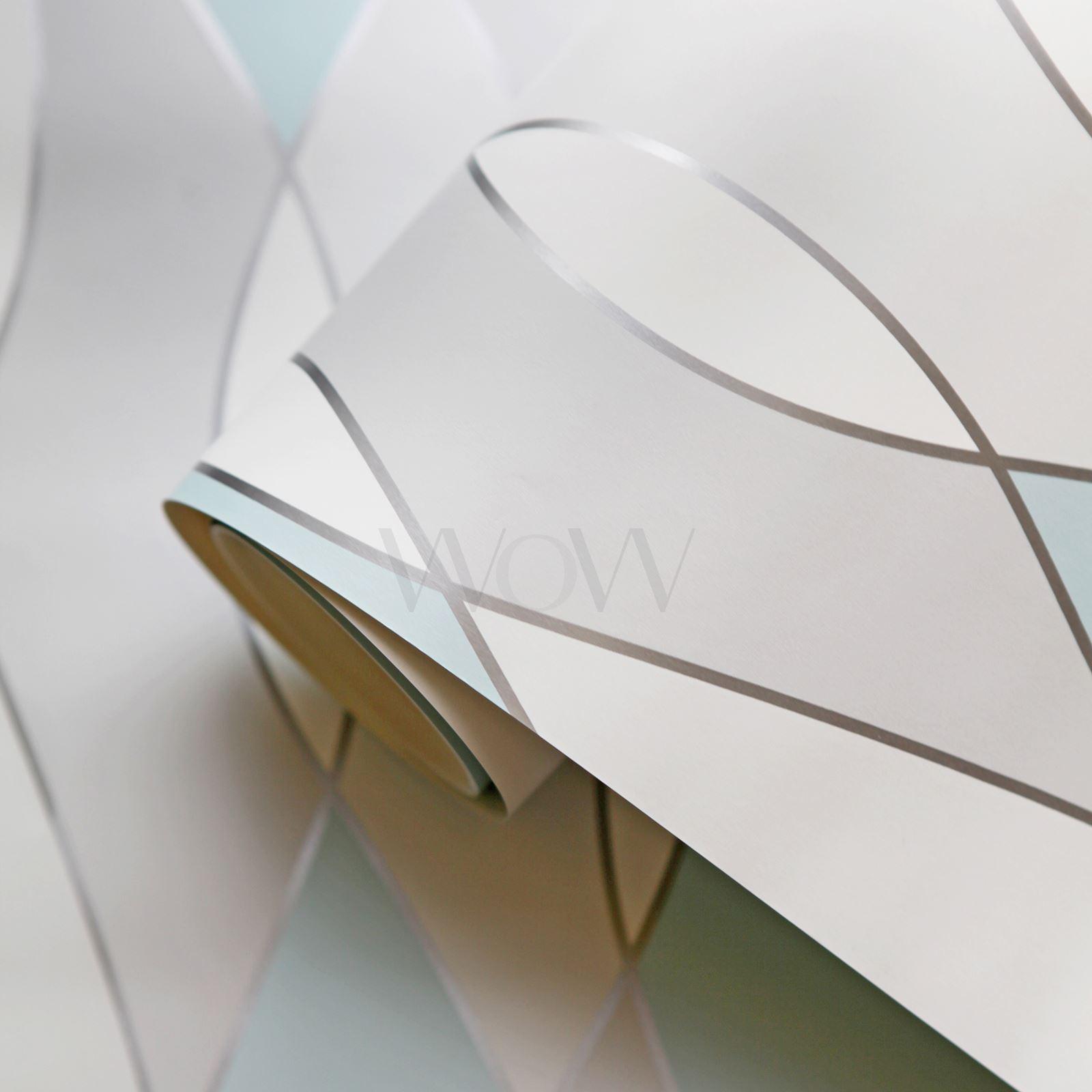 Apex Trellis Sidewall Wallpaper Copper: FINE DECOR APEX GEOMETRIC METALLIC WALLPAPER - TRIANGLES, TRELLIS, WAVE, WOOD