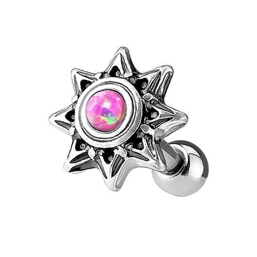 Tragus-Helix-CARTILAGE-Piercing-Oreja-universal-estrella-con-de-colores-opalo