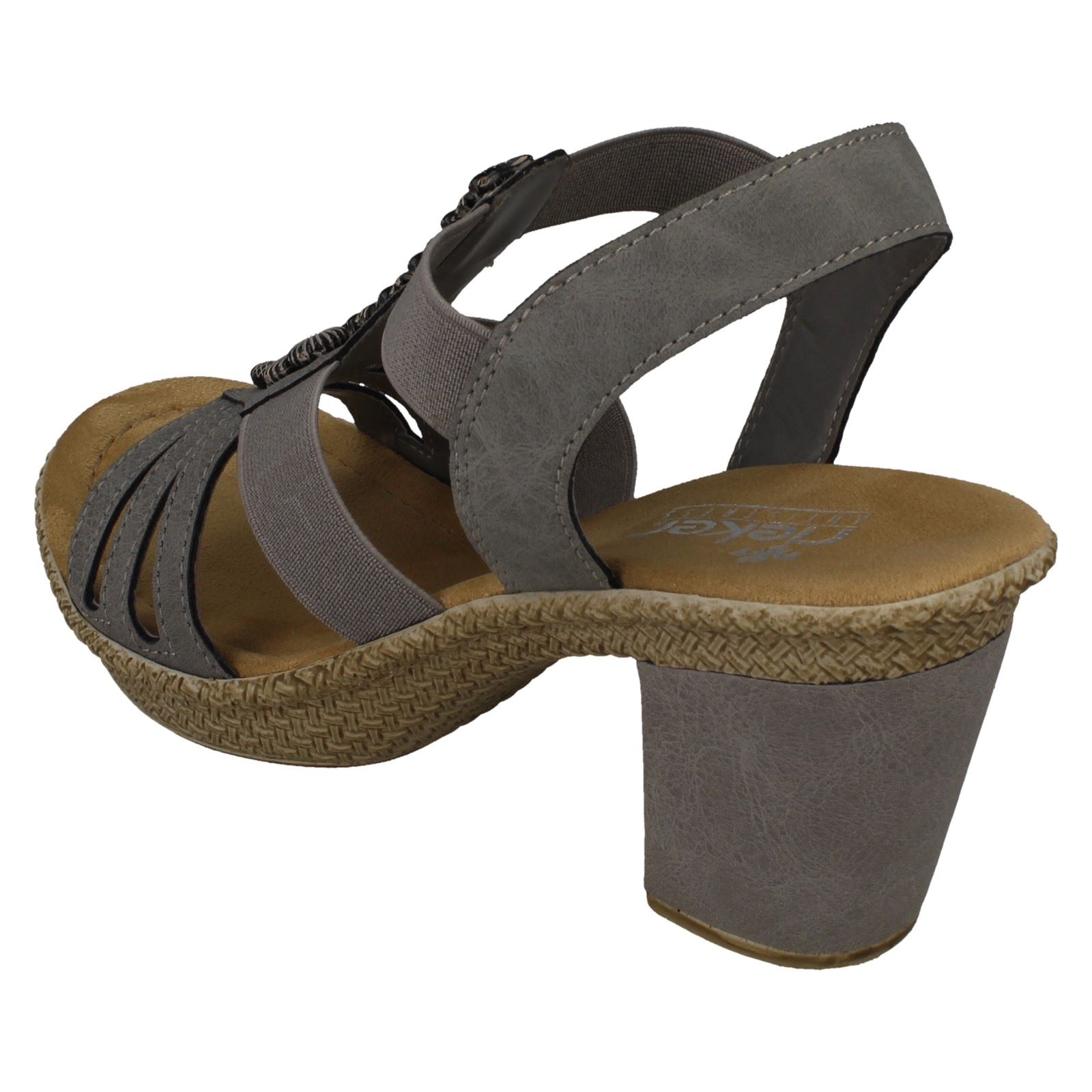Rieker Sandales à talons (Vert kaki) | TORFS.BE | Livraison