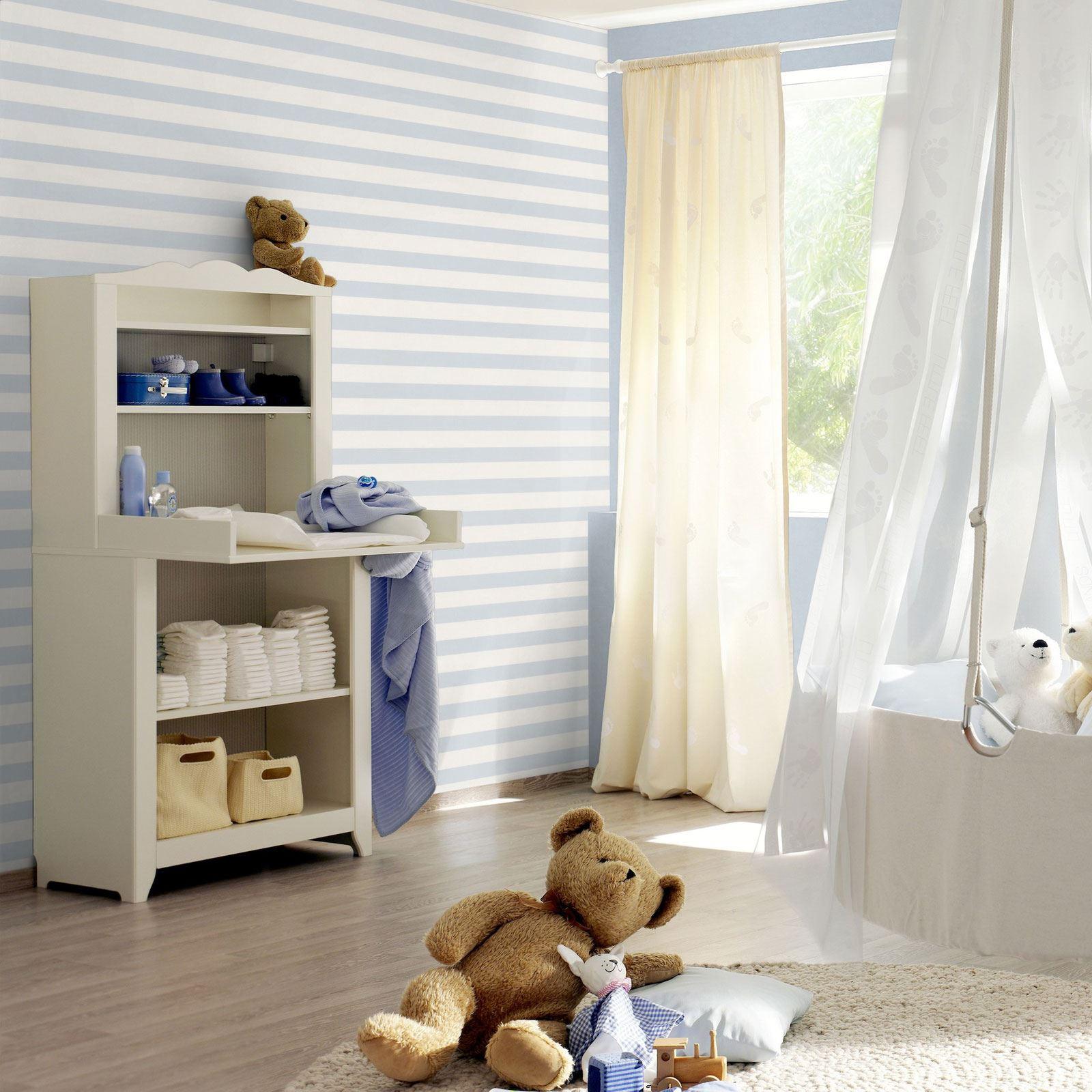 Camera Letto Carta Parati dettagli su rasch bambino stretto carta da parati a strisce camera letto  asili ingressi