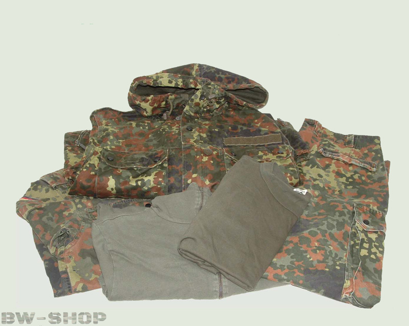 Original German Army Forces Set Trousers+jacket+t-shirt+rolli+parka, Camouflage