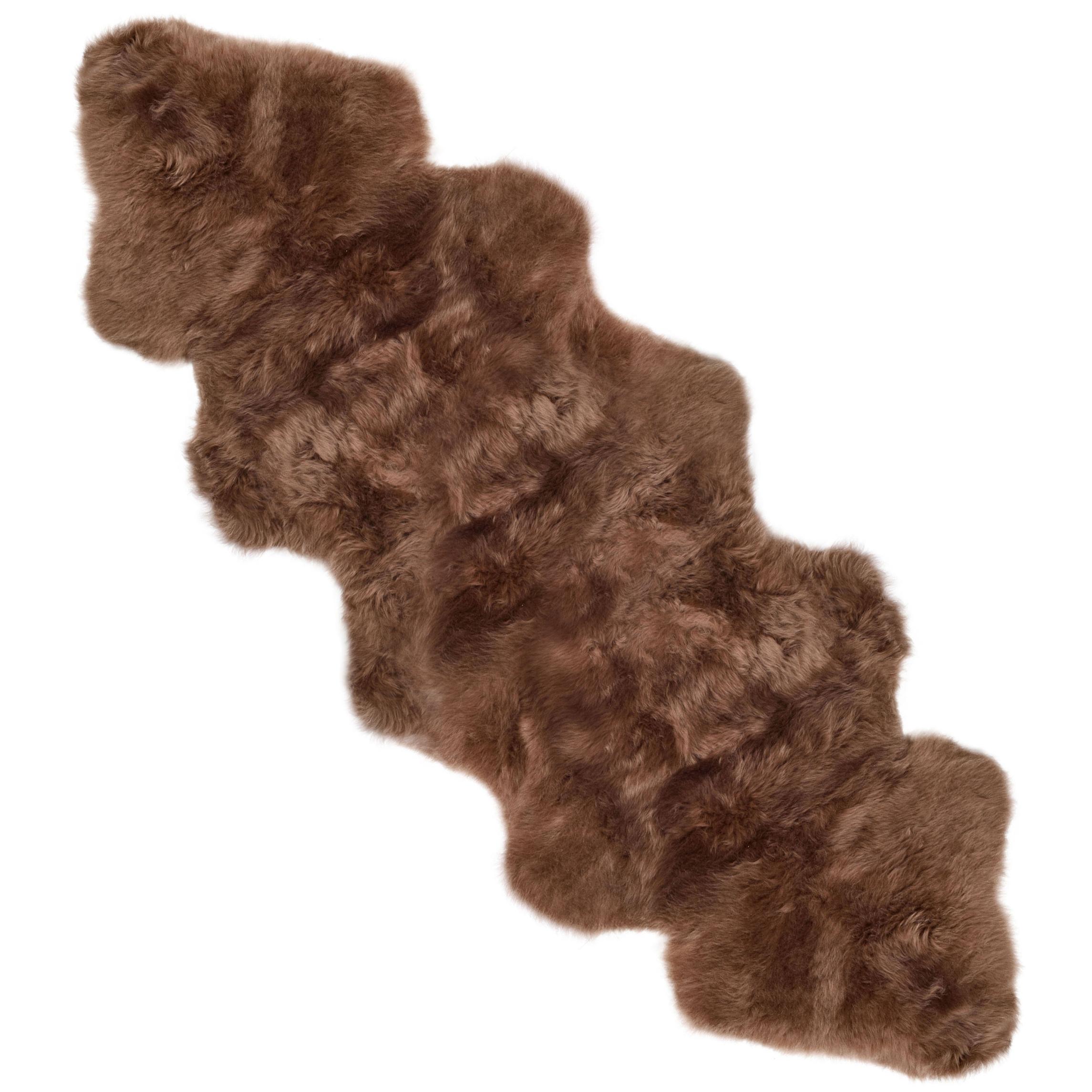 extra large GB fait très doux véritable tapis peau de MOUTON MOUTON de CHOCOLAT MARRON 63fe26