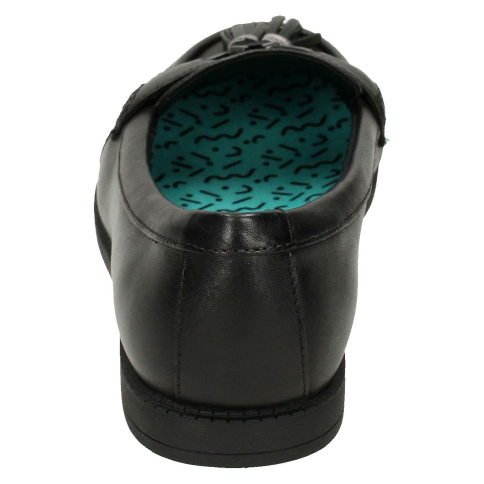 Chaussures-Fille-par-Clarks-Bord-a-Franges-Mocassins-Plats-039-Preppie-Bord-039