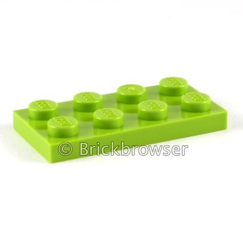 2x4 Schwarz LEGO® Plates 50Stk 3020-04 - Platte Black