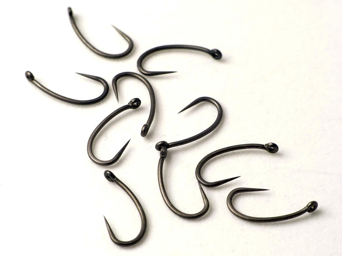 Revestido-Teflon-Carpa-Ganchos-Pesca-Abordar-Curva-Shank-Kurv-Aparejos-de-Pelo miniatura 6