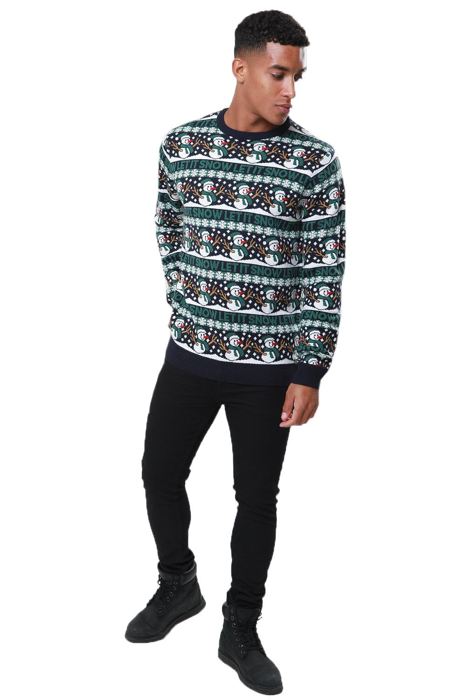Threadbare-Mens-Christmas-Stripe-Jumpers-Novelty-Festive-Repeat-Patterned-Top thumbnail 3
