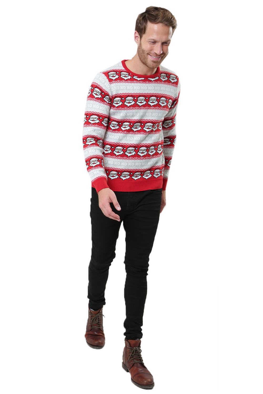 Threadbare-Mens-Christmas-Stripe-Jumpers-Novelty-Festive-Repeat-Patterned-Top thumbnail 11