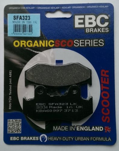 Honda SH125 Rear Drum Models (2001 to 2009) EBC Organic FRONT Brake Pads SFA323