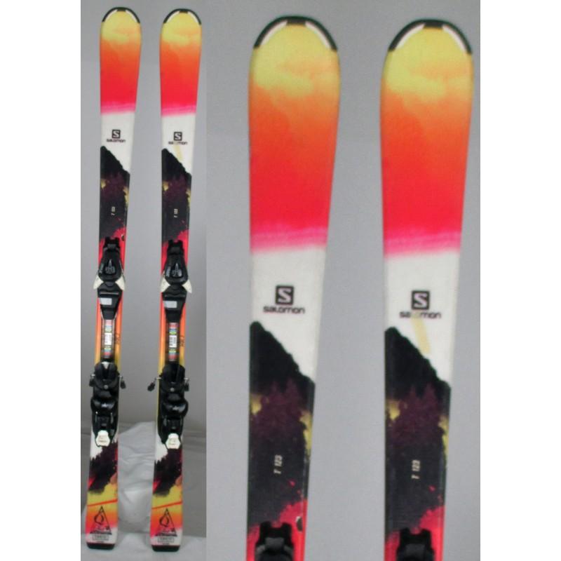 Esqui-ocasion-junior-Salomon-Q-lux-fijaciones