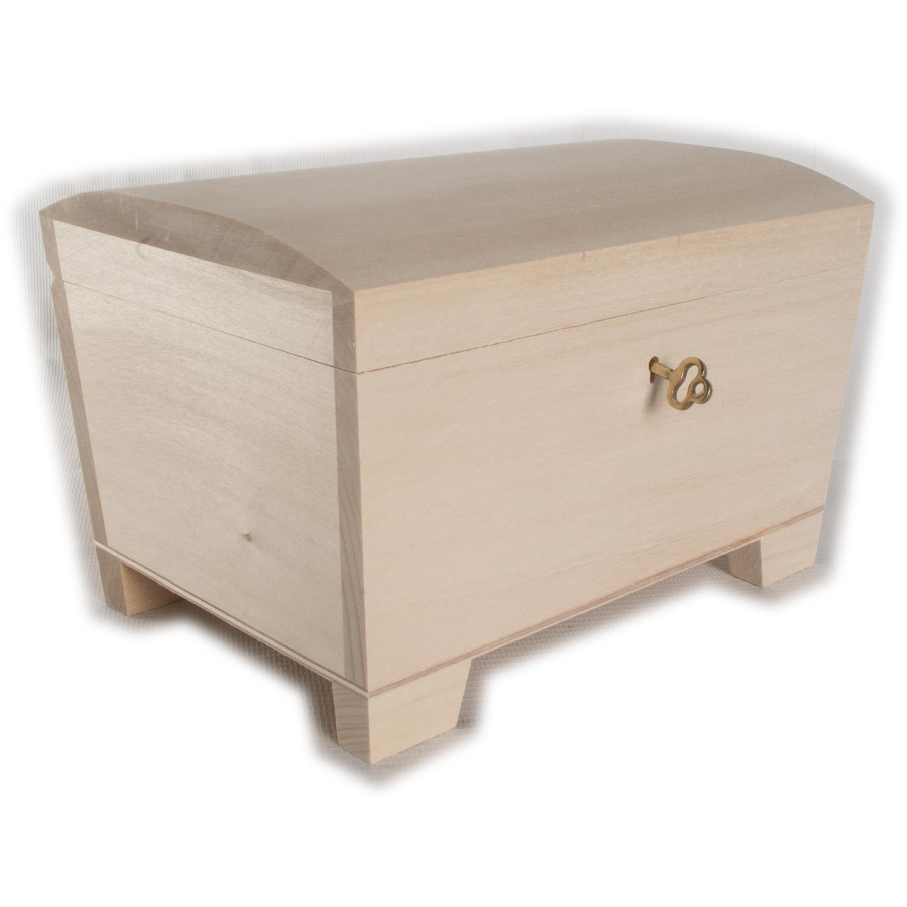 Sin Pintar Nuevo Caja De Madera Recuerdo Souvenirs Caja de memoria 24 Cm//// Art Craft Decoupage