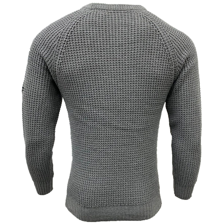Mens-Jumper-MINEHEAD-Crosshatch-Knitted-Sweater-Pullover-Top-Raglan-Warm-New thumbnail 4