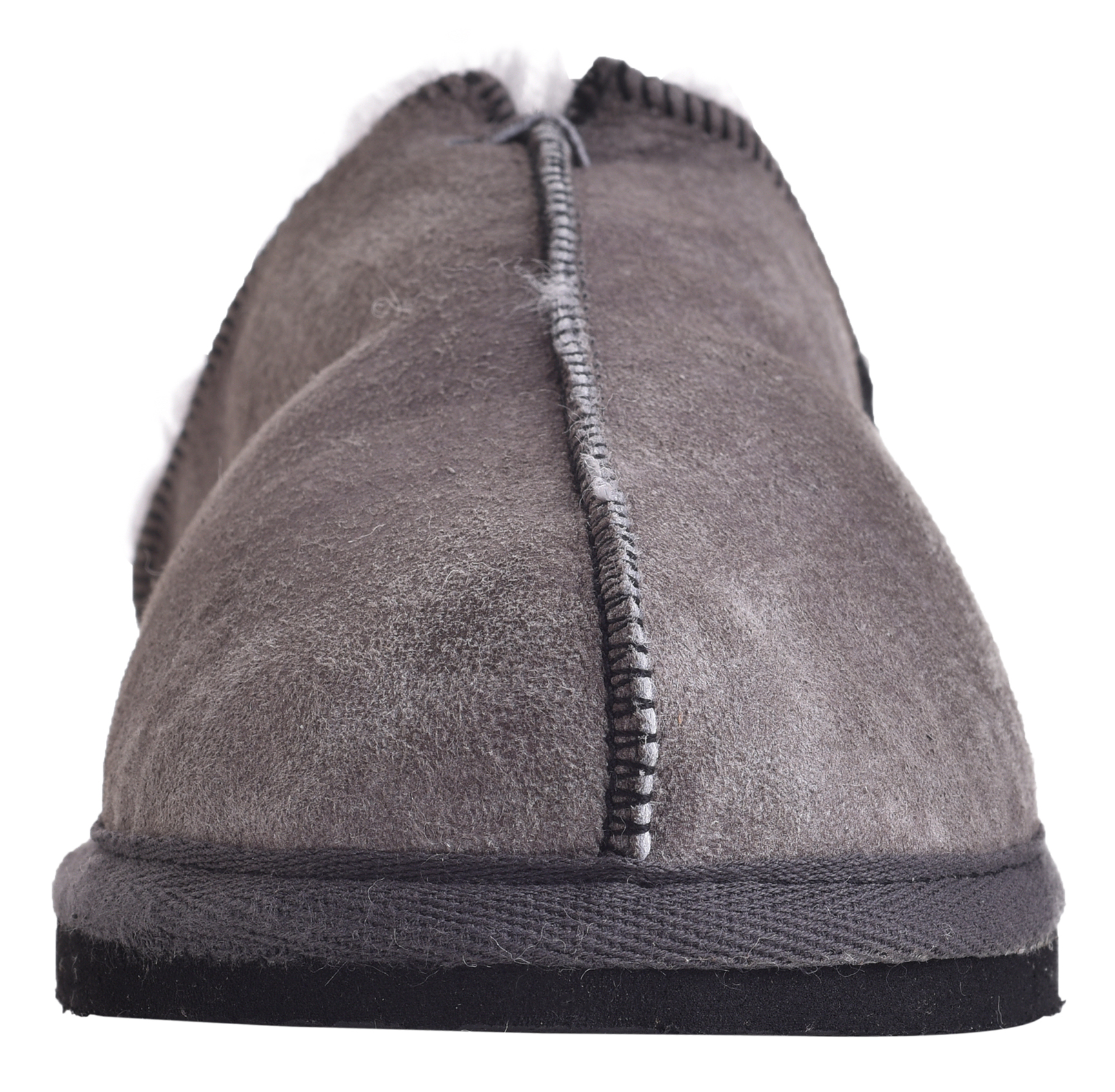 Damen Super Weich Luxus Echtes Lammfell Pantoffeln Harte UK6 Sohle UK5 UK6 Harte UK7 Grau d5da2c