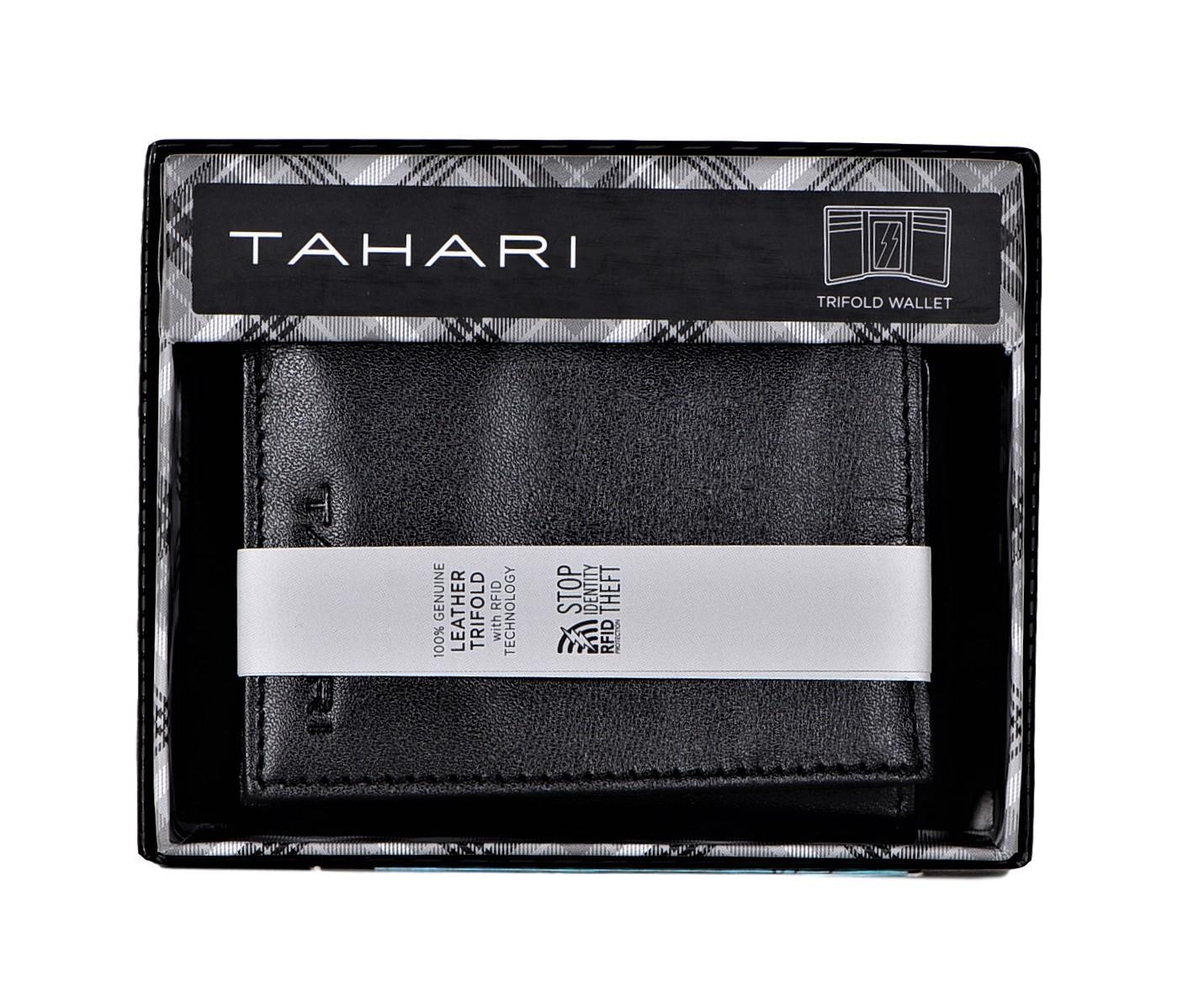 Tahari-Men-039-s-RFID-Security-Blocking-Leather-Glove-Trifold-Wallet thumbnail 10