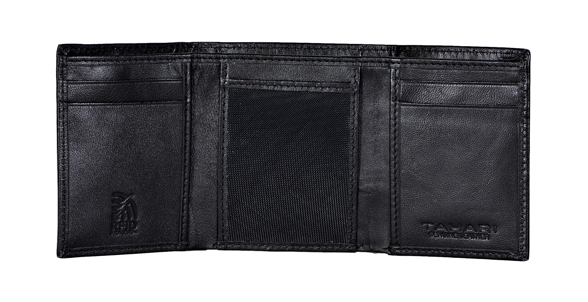 Tahari-Men-039-s-RFID-Security-Blocking-Leather-Glove-Trifold-Wallet thumbnail 9