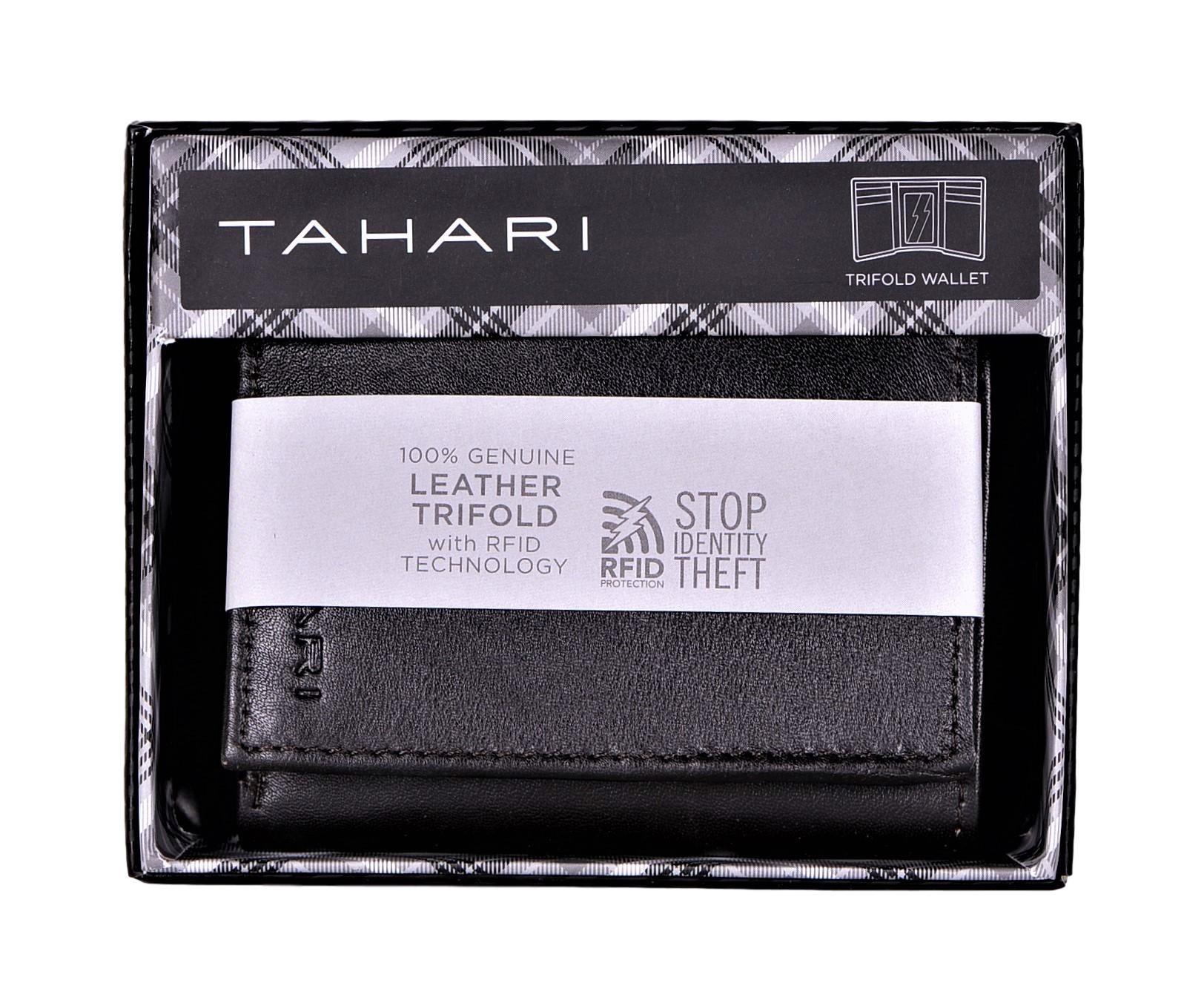 Tahari-Men-039-s-RFID-Security-Blocking-Leather-Glove-Trifold-Wallet thumbnail 15