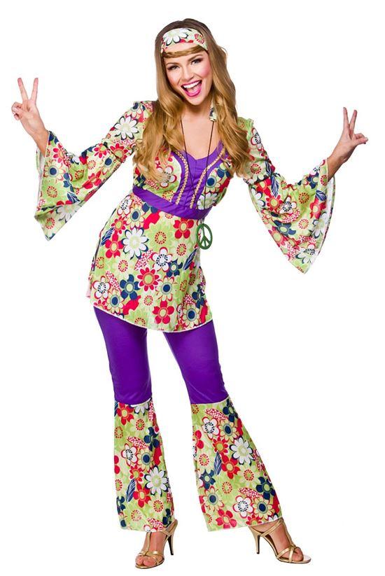 Femmes hippie ann es 60 70 fleur d guisement costume - Hippie annee 70 ...