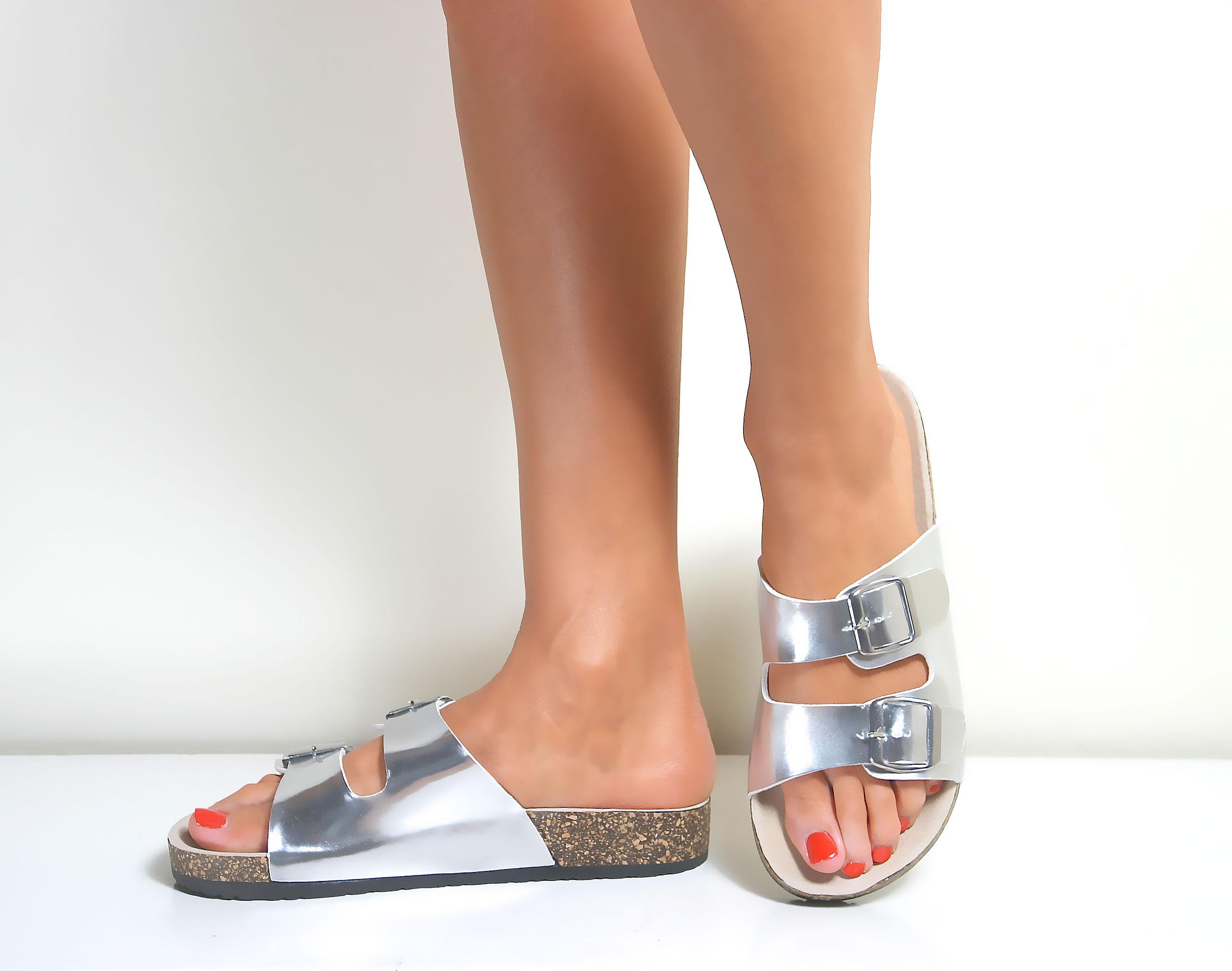 Women's flat sandals ebay