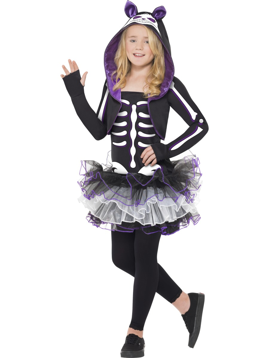 skeleton cat costume childrens halloween fancy dress costume - Cat Outfit For Halloween