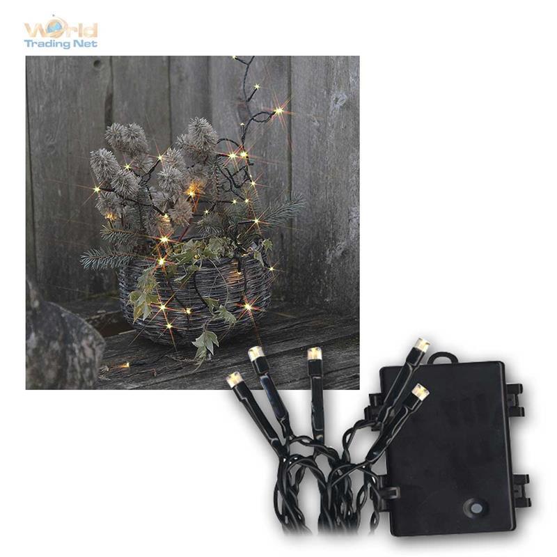 battery outdoor led light chain dura mi timer christmas lights light net ebay. Black Bedroom Furniture Sets. Home Design Ideas