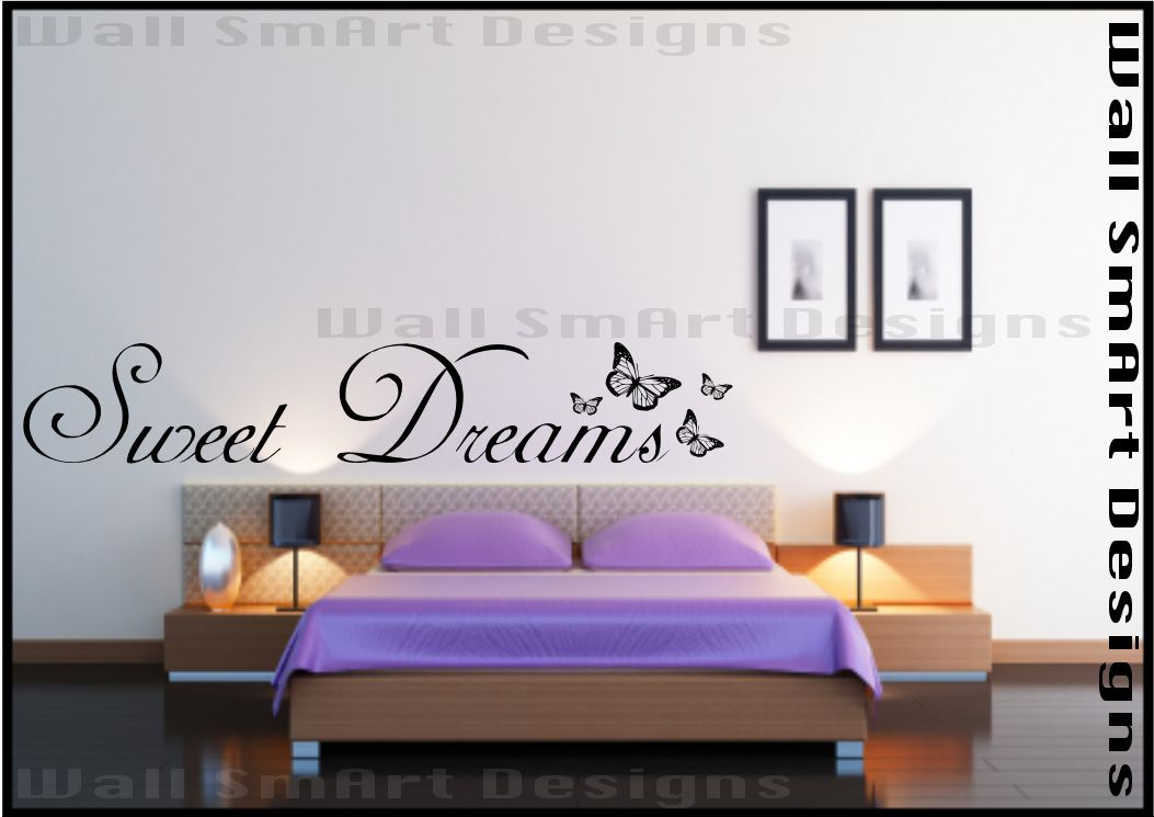 Adesivo da parete per camera da letto citazione Sweet Dreams ...