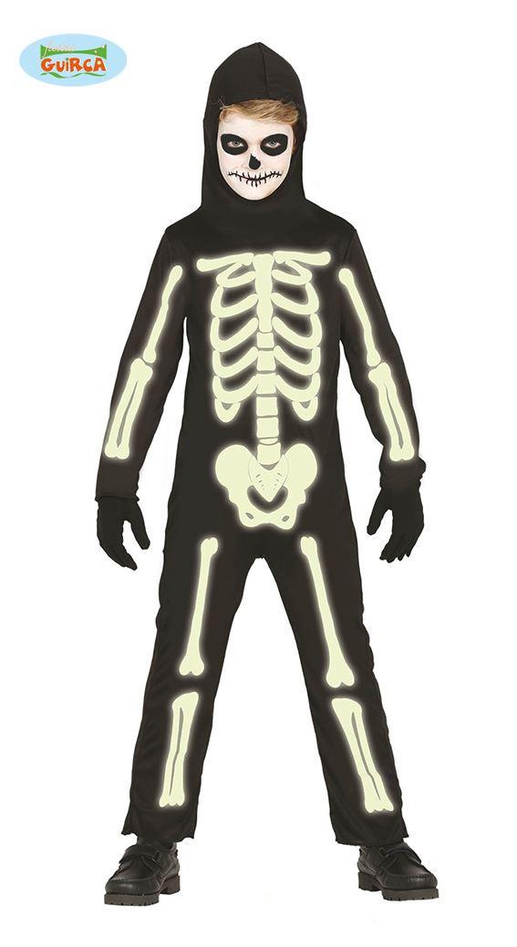 Kinder leuchten im dunklen Skelett-Overall Halloween Kostüm Kleid ...