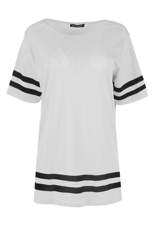 White t shirt ebay uk - Ladies Womens Airtex Sports Stripe Shorrt Sleeve Plain