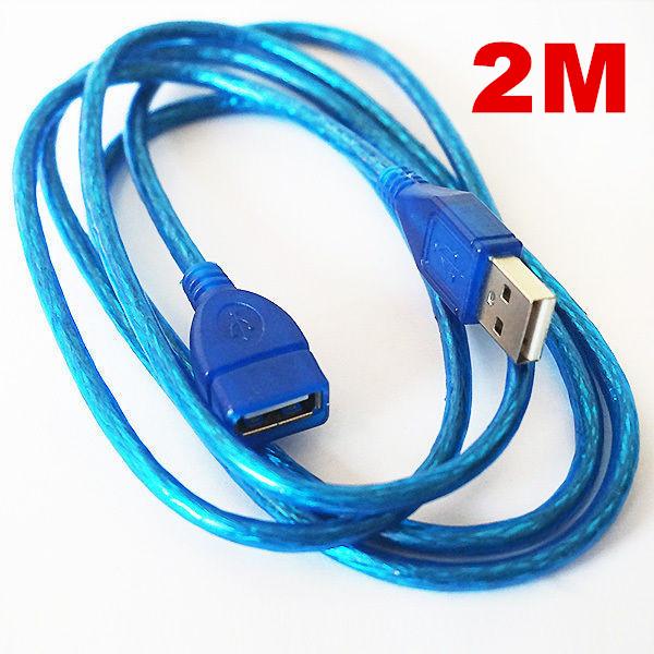 blau usb 2 0 verl ngerungskabel buchse auf stecker kabel extender 1m 1 5 m 2m 3m ebay. Black Bedroom Furniture Sets. Home Design Ideas