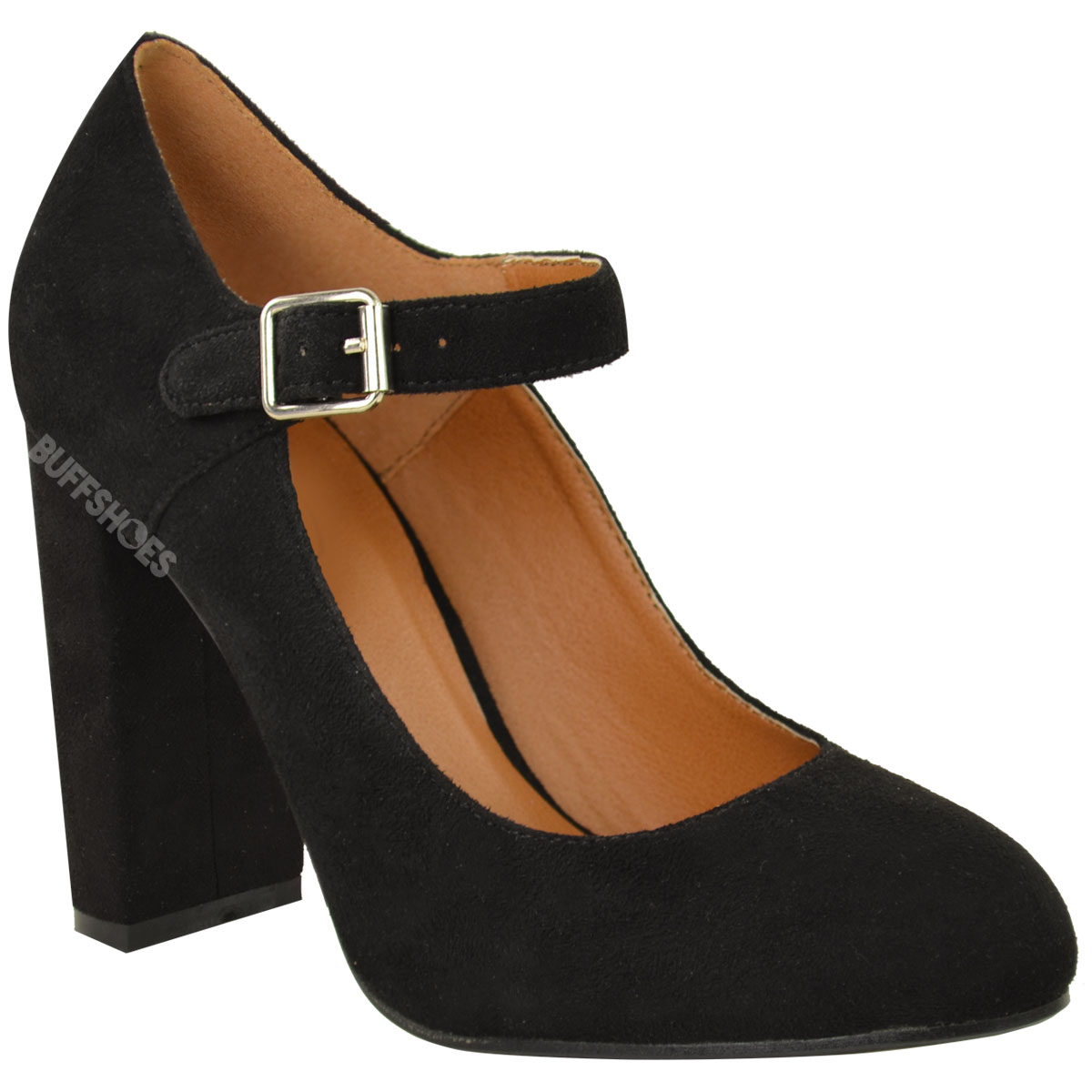 Hush Puppies Lonna Mary Jane Negro - Zapatos de