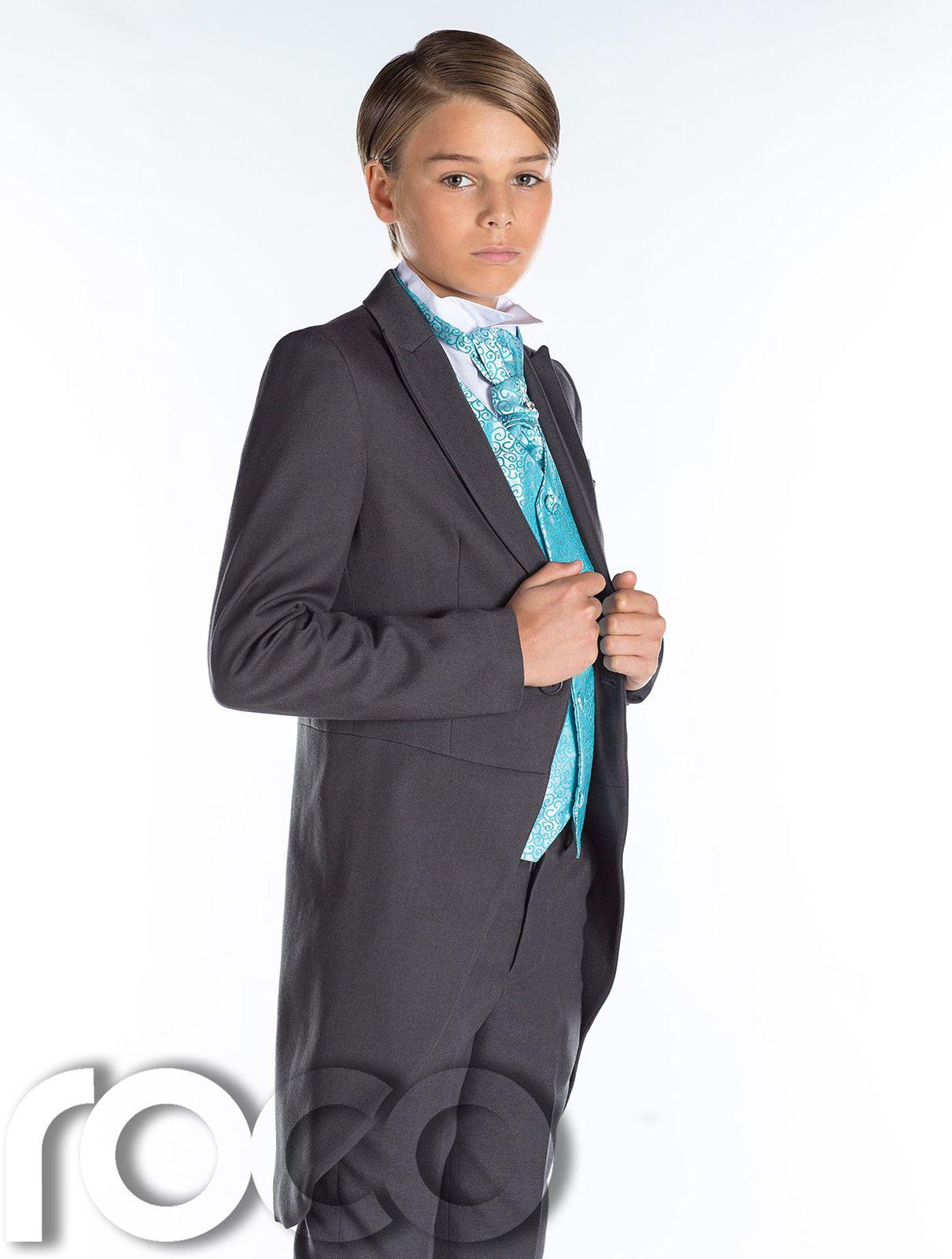 Grau frack anzug jungen hochzeit outfits prom anzug - Festliche kindermode hochzeit jungen ...