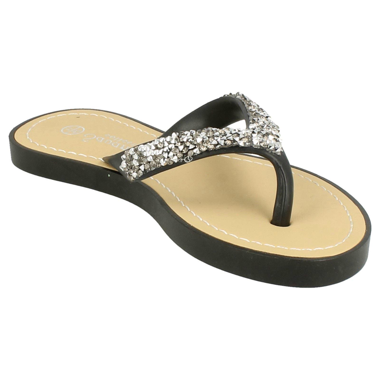 Girls Savannah Slip On /'Flip Flops/'