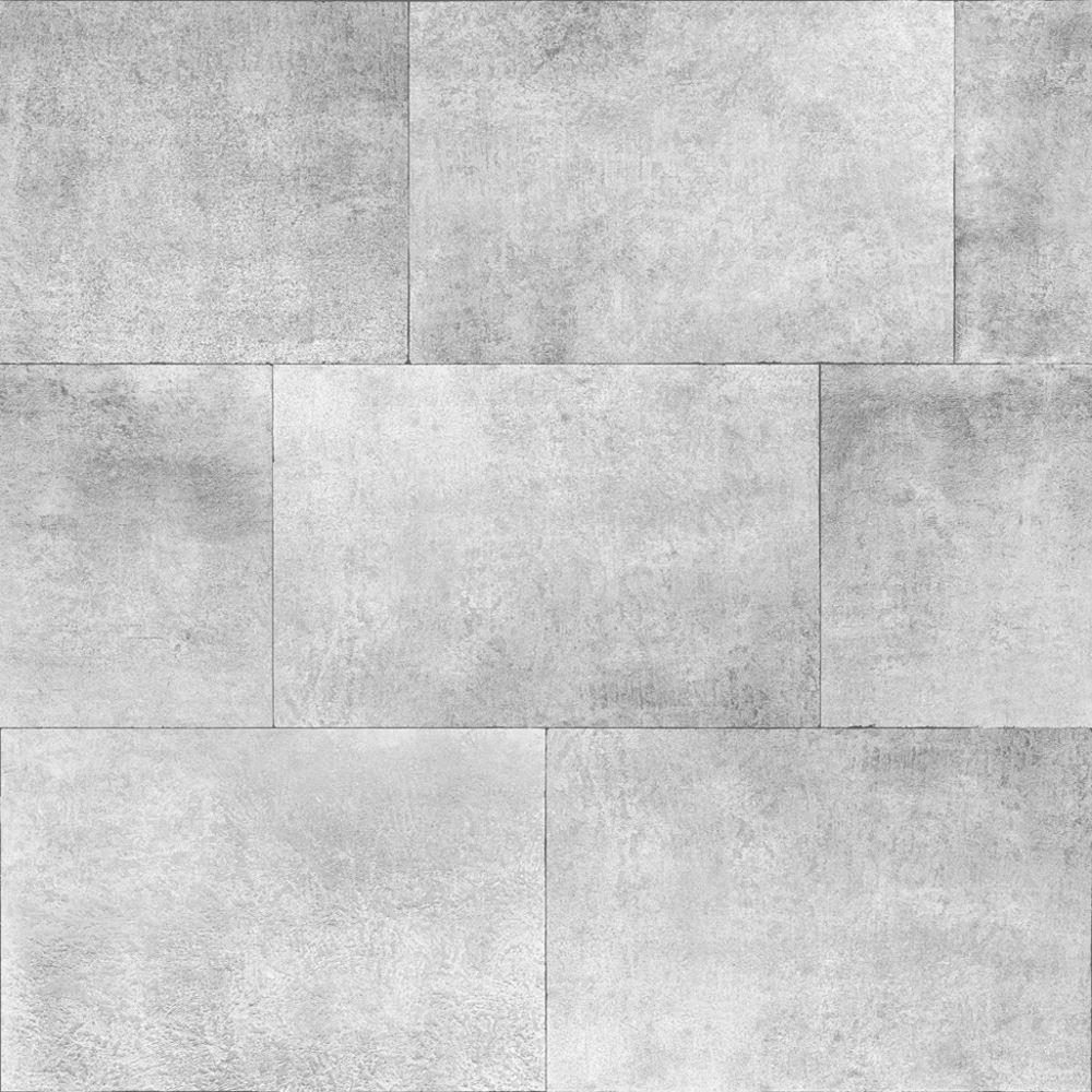 Muriva 141202 Kachel Stein Metallisch Ziegel Tapete Silber
