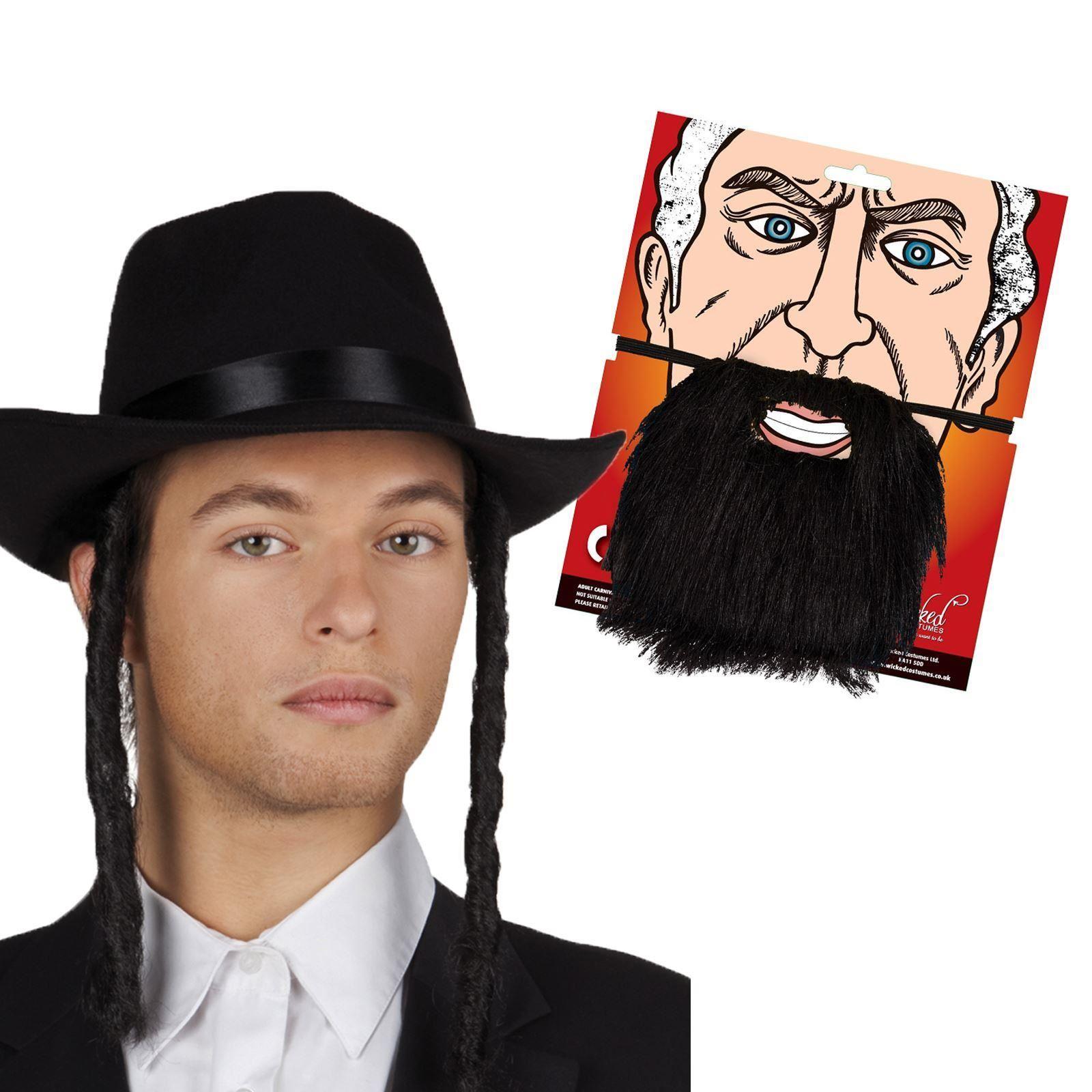 j discher rabbiner menge hut koteletten bart brillen herren kost m zubeh r ebay. Black Bedroom Furniture Sets. Home Design Ideas
