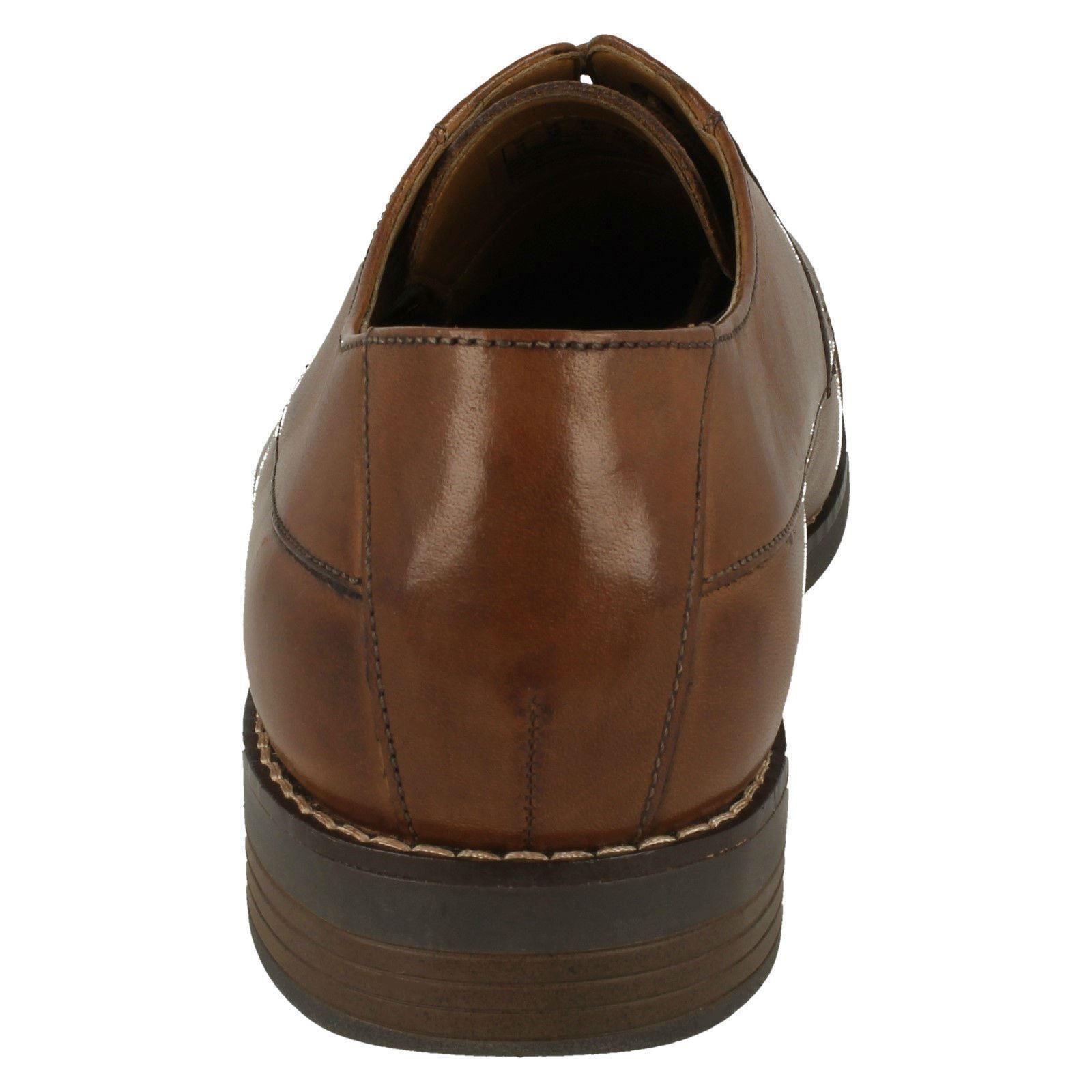 Herren Clarks Smart Schnürschuh Becken Kappe