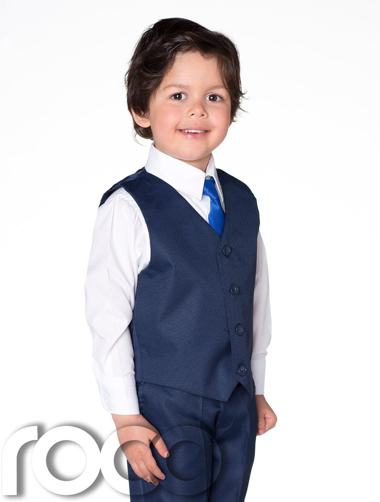 34383ef98b5f Detalles de Traje Ceremonia Niño, Chaleco para Niño Azul Marino, Gris,