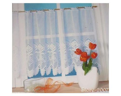 Cortinas de bistro cortina visillo 160 x 60 cm blanco 3 for Cortina visillo blanco