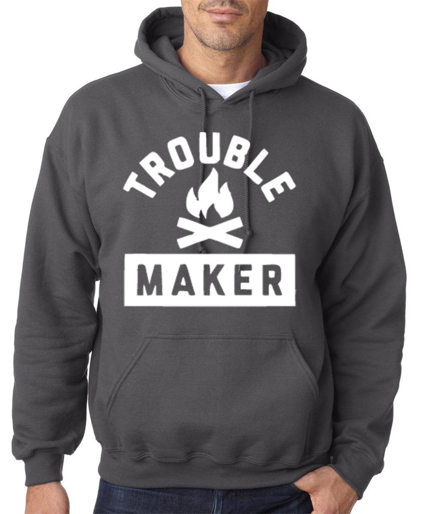 Trouble-fabricante-Hombre-Sudaderas-Blanco-Todas-Las-Tallas-Gris-Carbon