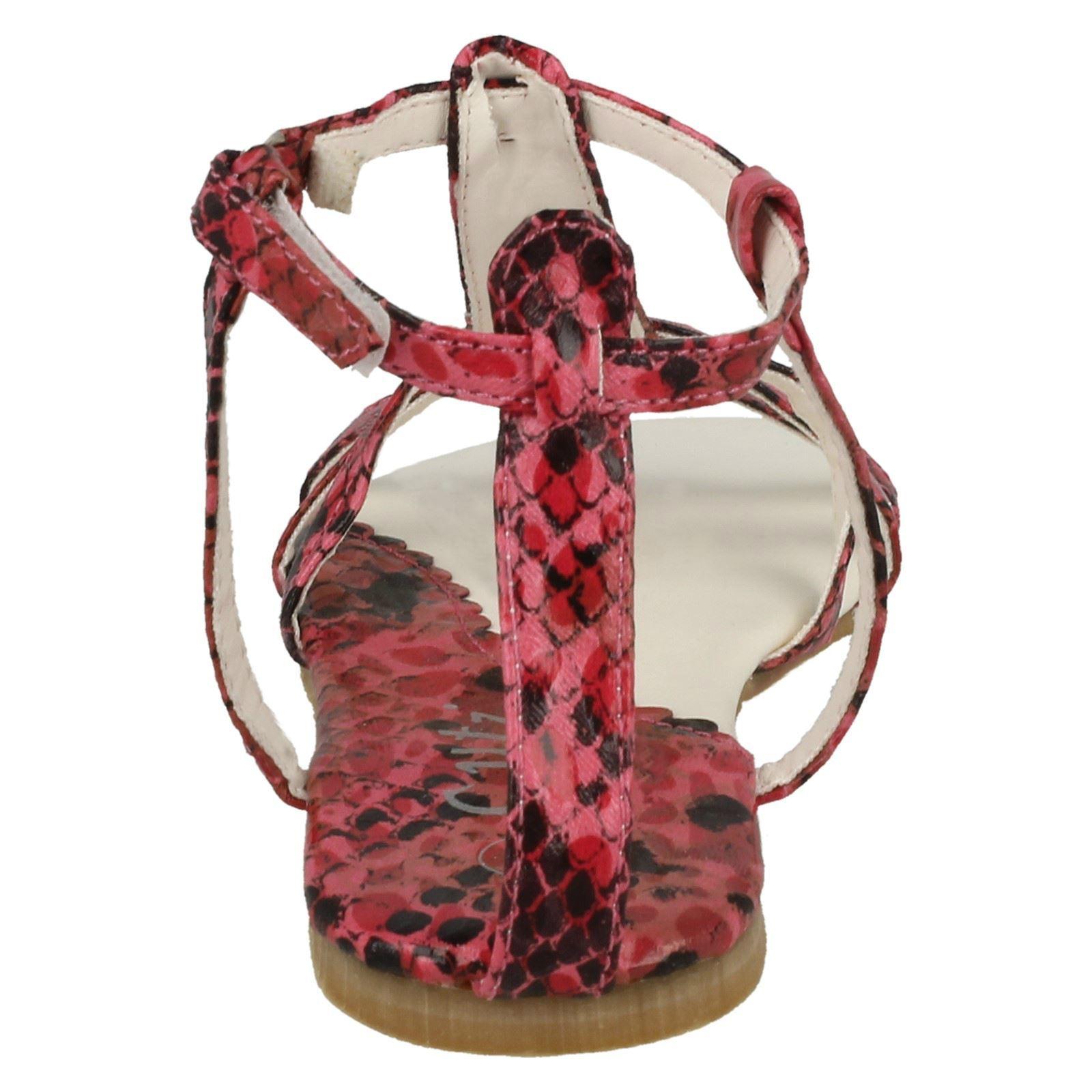 Mädchen Cutie Schlangenmuster Gladiator Sandalen