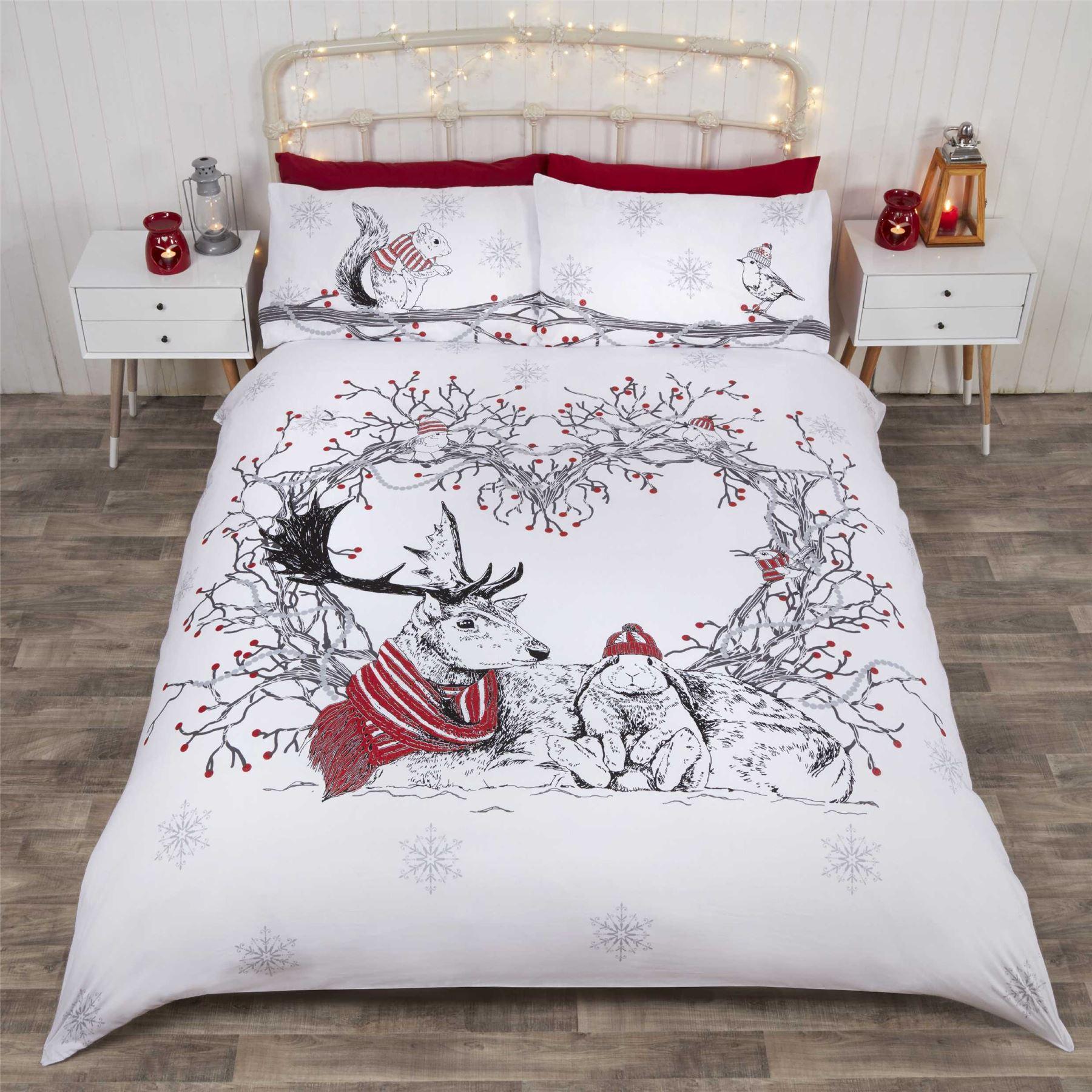 Natale trapunta copripiumino e federa biancheria letto set regalo di babbo ebay - Amici di letto chat ...